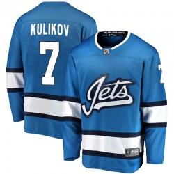 Dmitry Kulikov Winnipeg Jets Men's Fanatics Branded Blue Breakaway Alternate Jersey