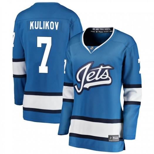 Dmitry Kulikov Winnipeg Jets Women's Fanatics Branded Blue Breakaway Alternate Jersey