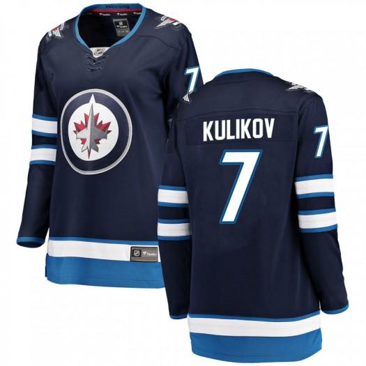 Dmitry Kulikov Winnipeg Jets Women's Fanatics Branded Blue Breakaway Home Jersey