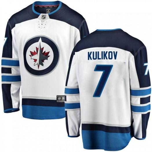 Dmitry Kulikov Winnipeg Jets Youth Fanatics Branded White Breakaway Away Jersey