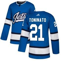 Dominic Toninato Winnipeg Jets Men's Adidas Authentic Blue Alternate Jersey