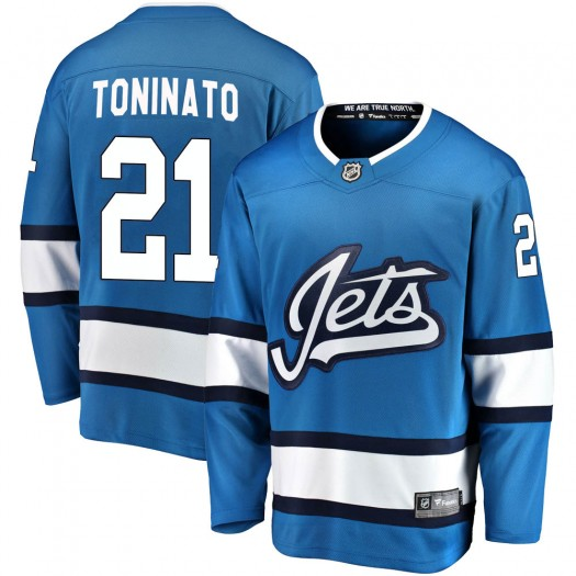 Dominic Toninato Winnipeg Jets Men's Fanatics Branded Blue Breakaway Alternate Jersey