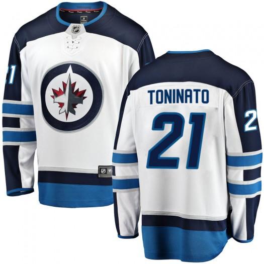 Dominic Toninato Winnipeg Jets Men's Fanatics Branded White Breakaway Away Jersey