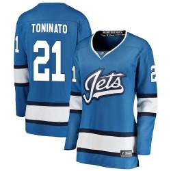Dominic Toninato Winnipeg Jets Women's Fanatics Branded Blue Breakaway Alternate Jersey