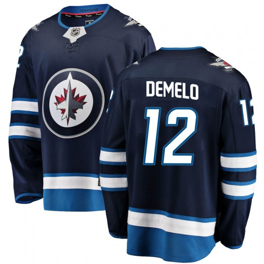 Dylan DeMelo Winnipeg Jets Men's Fanatics Branded Blue ized Breakaway Home Jersey