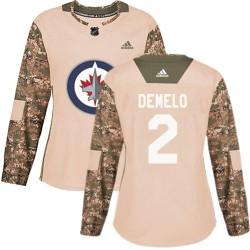 Dylan DeMelo Winnipeg Jets Women's Adidas Authentic Camo Veterans Day Practice Jersey