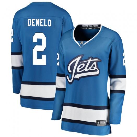Dylan DeMelo Winnipeg Jets Women's Fanatics Branded Blue Breakaway Alternate Jersey