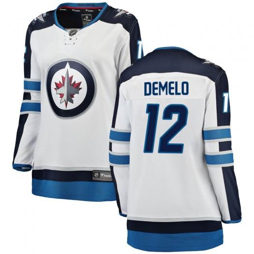 Dylan DeMelo Winnipeg Jets Women's Fanatics Branded White ized Breakaway Away Jersey