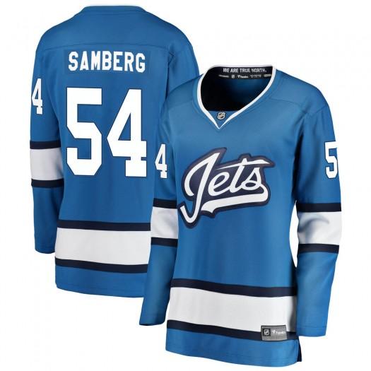 Dylan Samberg Winnipeg Jets Women's Fanatics Branded Blue Breakaway Alternate Jersey