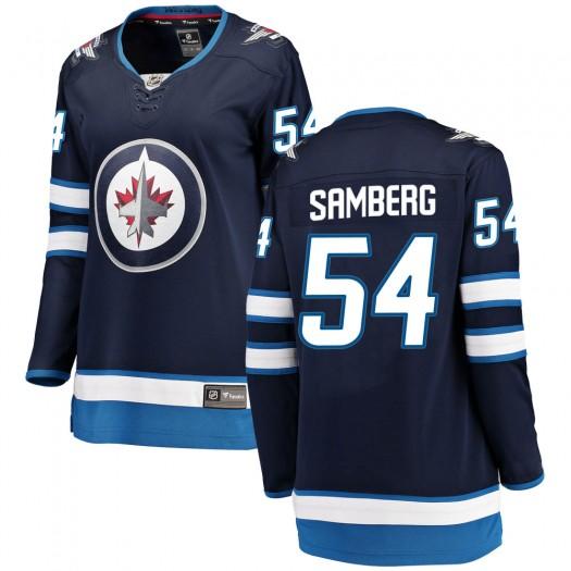 Dylan Samberg Winnipeg Jets Women's Fanatics Branded Blue Breakaway Home Jersey