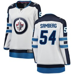 Dylan Samberg Winnipeg Jets Women's Fanatics Branded White Breakaway Away Jersey