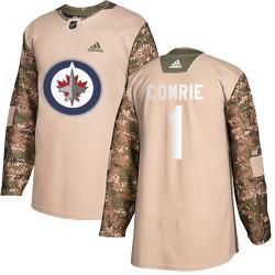 Eric Comrie Winnipeg Jets Men's Adidas Authentic Camo Veterans Day Practice Jersey