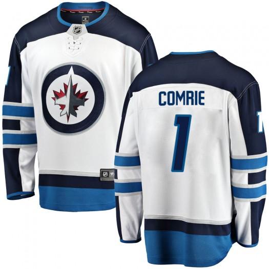 Eric Comrie Winnipeg Jets Men's Fanatics Branded White Breakaway Away Jersey