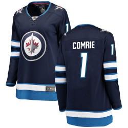Eric Comrie Winnipeg Jets Women's Fanatics Branded Blue Breakaway Home Jersey