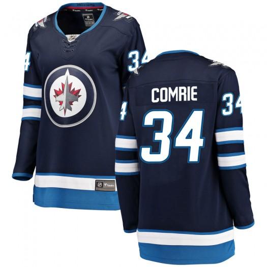 Eric Comrie Winnipeg Jets Women's Fanatics Branded Blue ized Breakaway Home Jersey