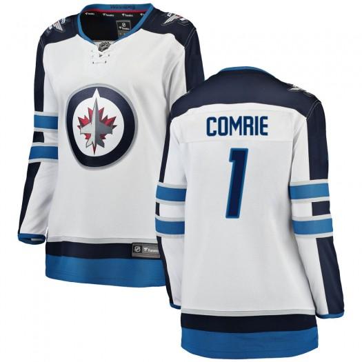 Eric Comrie Winnipeg Jets Women's Fanatics Branded White Breakaway Away Jersey