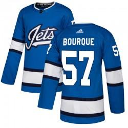 Gabriel Bourque Winnipeg Jets Men's Adidas Authentic Blue Alternate Jersey