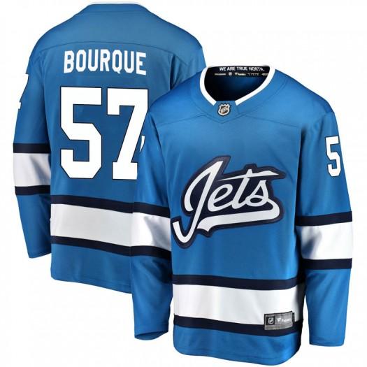Gabriel Bourque Winnipeg Jets Men's Fanatics Branded Blue Breakaway Alternate Jersey