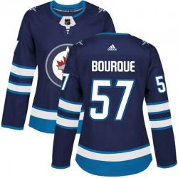 Gabriel Bourque Winnipeg Jets Women's Adidas Authentic Navy Home Jersey