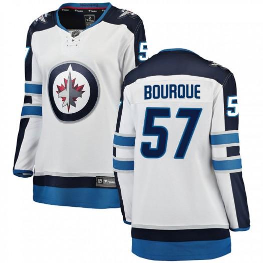 Gabriel Bourque Winnipeg Jets Women's Fanatics Branded White Breakaway Away Jersey
