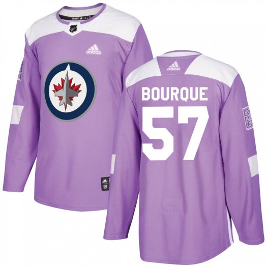 Gabriel Bourque Winnipeg Jets Youth Adidas Authentic Purple Fights Cancer Practice Jersey