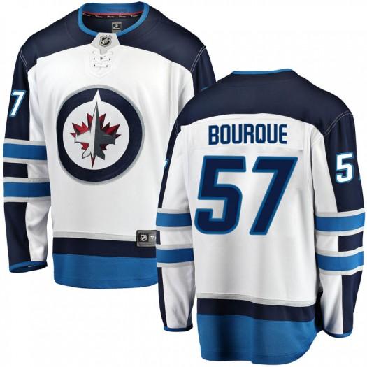 Gabriel Bourque Winnipeg Jets Youth Fanatics Branded White Breakaway Away Jersey