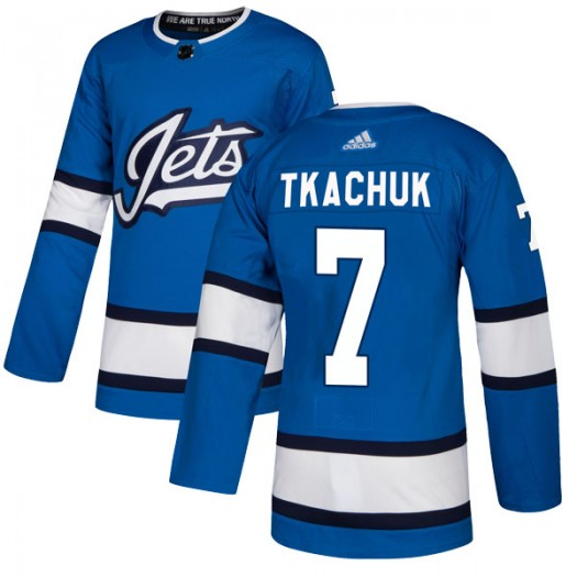 Keith Tkachuk Winnipeg Jets Men's Adidas Authentic Blue Alternate Jersey