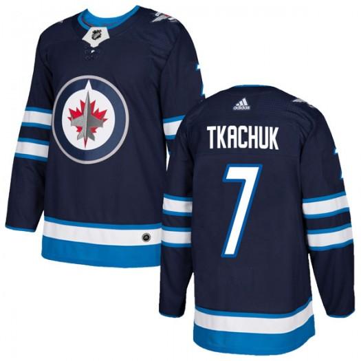 Keith Tkachuk Winnipeg Jets Men's Adidas Authentic Navy Home Jersey