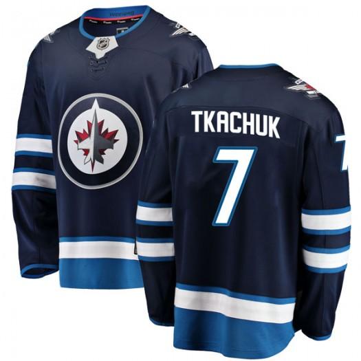 Keith Tkachuk Winnipeg Jets Men's Fanatics Branded Blue Breakaway Home Jersey