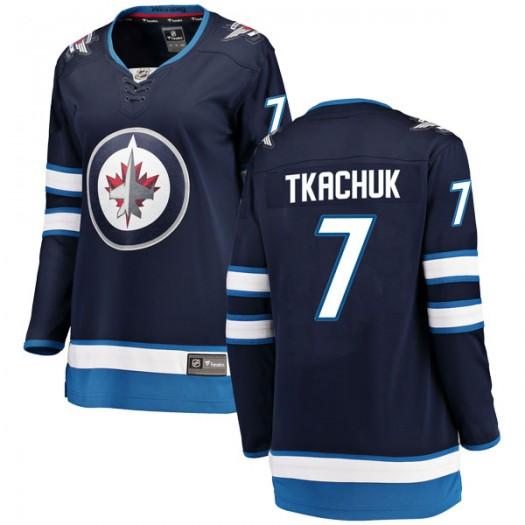 Keith Tkachuk Winnipeg Jets Women's Fanatics Branded Blue Breakaway Home Jersey
