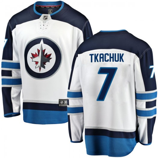 Keith Tkachuk Winnipeg Jets Youth Fanatics Branded White Breakaway Away Jersey
