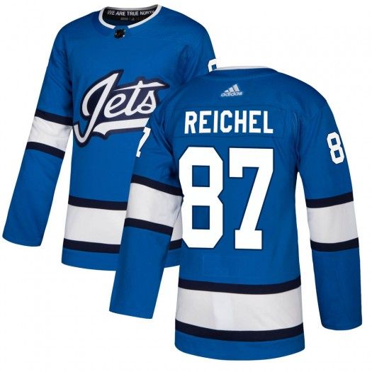 Kristian Reichel Winnipeg Jets Men's Adidas Authentic Blue Alternate Jersey