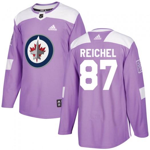 Kristian Reichel Winnipeg Jets Men's Adidas Authentic Purple Fights Cancer Practice Jersey