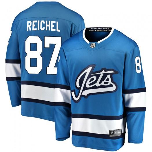 Kristian Reichel Winnipeg Jets Men's Fanatics Branded Blue Breakaway Alternate Jersey