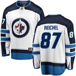 Kristian Reichel Winnipeg Jets Men's Fanatics Branded White Breakaway Away Jersey