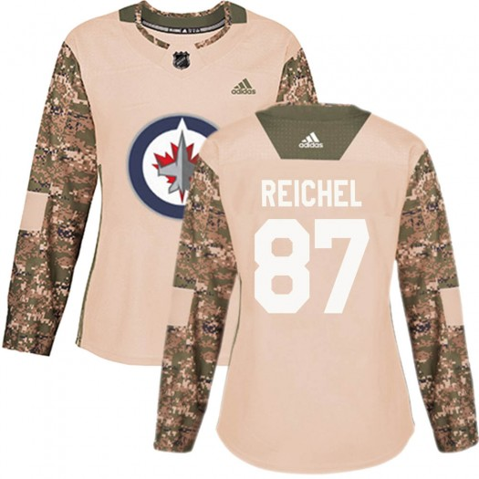 Kristian Reichel Winnipeg Jets Women's Adidas Authentic Camo Veterans Day Practice Jersey