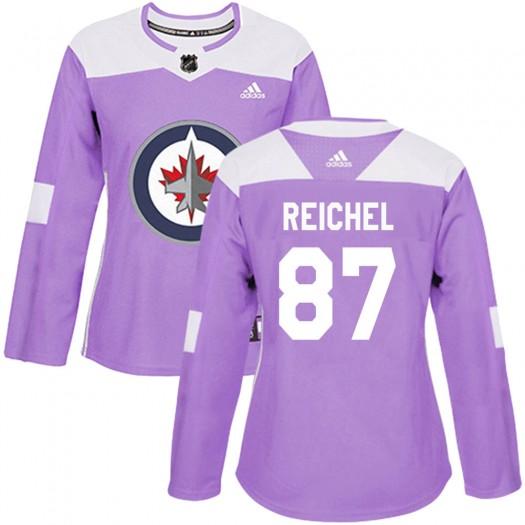 Kristian Reichel Winnipeg Jets Women's Adidas Authentic Purple Fights Cancer Practice Jersey