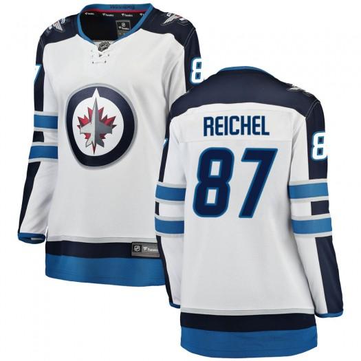 Kristian Reichel Winnipeg Jets Women's Fanatics Branded White Breakaway Away Jersey