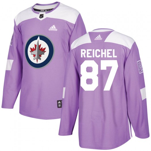 Kristian Reichel Winnipeg Jets Youth Adidas Authentic Purple Fights Cancer Practice Jersey