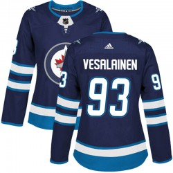 Kristian Vesalainen Winnipeg Jets Women's Adidas Authentic Navy Home Jersey