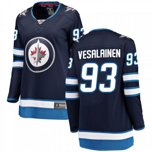Kristian Vesalainen Winnipeg Jets Women's Fanatics Branded Blue Breakaway Home Jersey