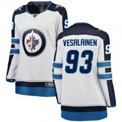 Kristian Vesalainen Winnipeg Jets Women's Fanatics Branded White Breakaway Away Jersey