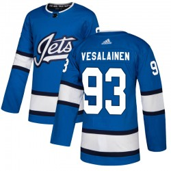 Kristian Vesalainen Winnipeg Jets Youth Adidas Authentic Blue Alternate Jersey