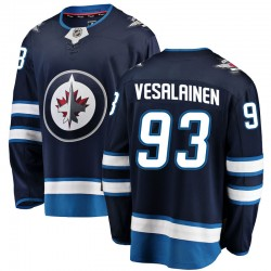 Kristian Vesalainen Winnipeg Jets Youth Fanatics Branded Blue Breakaway Home Jersey
