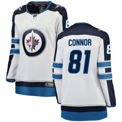 Kyle Connor Winnipeg Jets Women's Fanatics Branded White Breakaway Away Jersey