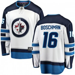 Laurie Boschman Winnipeg Jets Men's Fanatics Branded White Breakaway Away Jersey