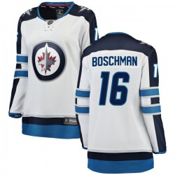 Laurie Boschman Winnipeg Jets Women's Fanatics Branded White Breakaway Away Jersey