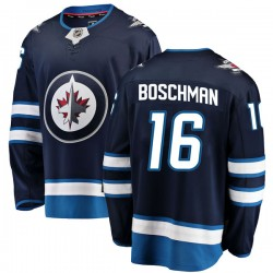 Laurie Boschman Winnipeg Jets Youth Fanatics Branded Blue Breakaway Home Jersey
