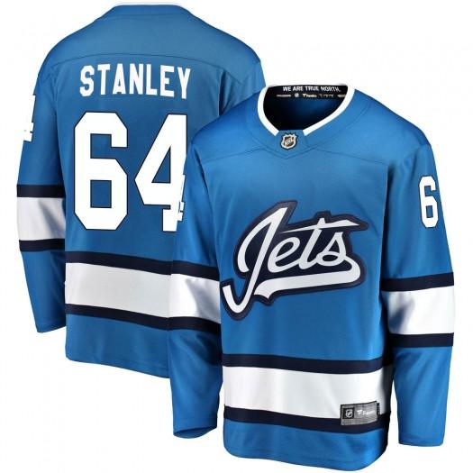 Logan Stanley Winnipeg Jets Men's Fanatics Branded Blue Breakaway Alternate Jersey
