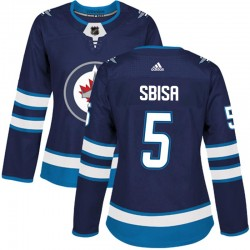 Luca Sbisa Winnipeg Jets Women's Adidas Authentic Navy Home Jersey